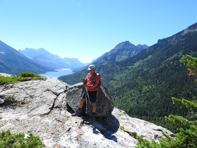 Hiking up Bear Humps Trail in the Waterton Lakes National Park