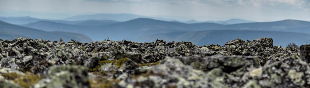 La vue sur la vallée depuis le sommet du Mont Jacques Cartier en Gaspésie