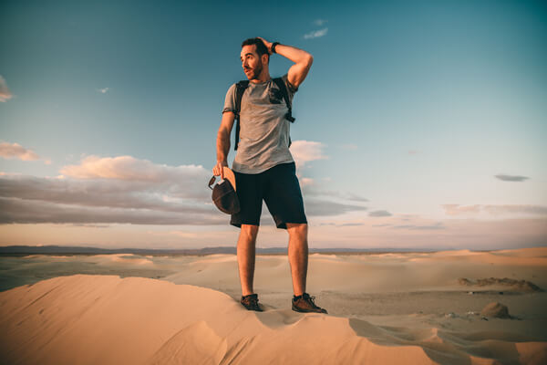 Benoit Chamberland taking a picture in Tunis, Tsunesia