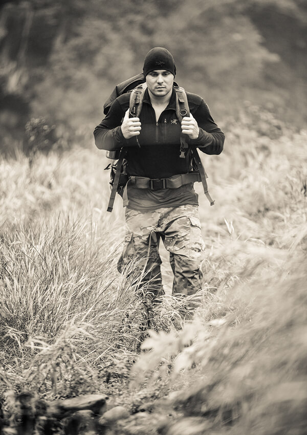 Keven Martel training for his expedition across Canada