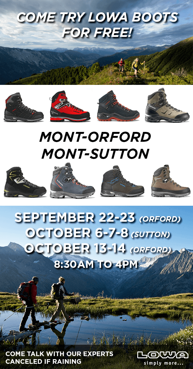 LOWA 2018 Boot testing events flyer